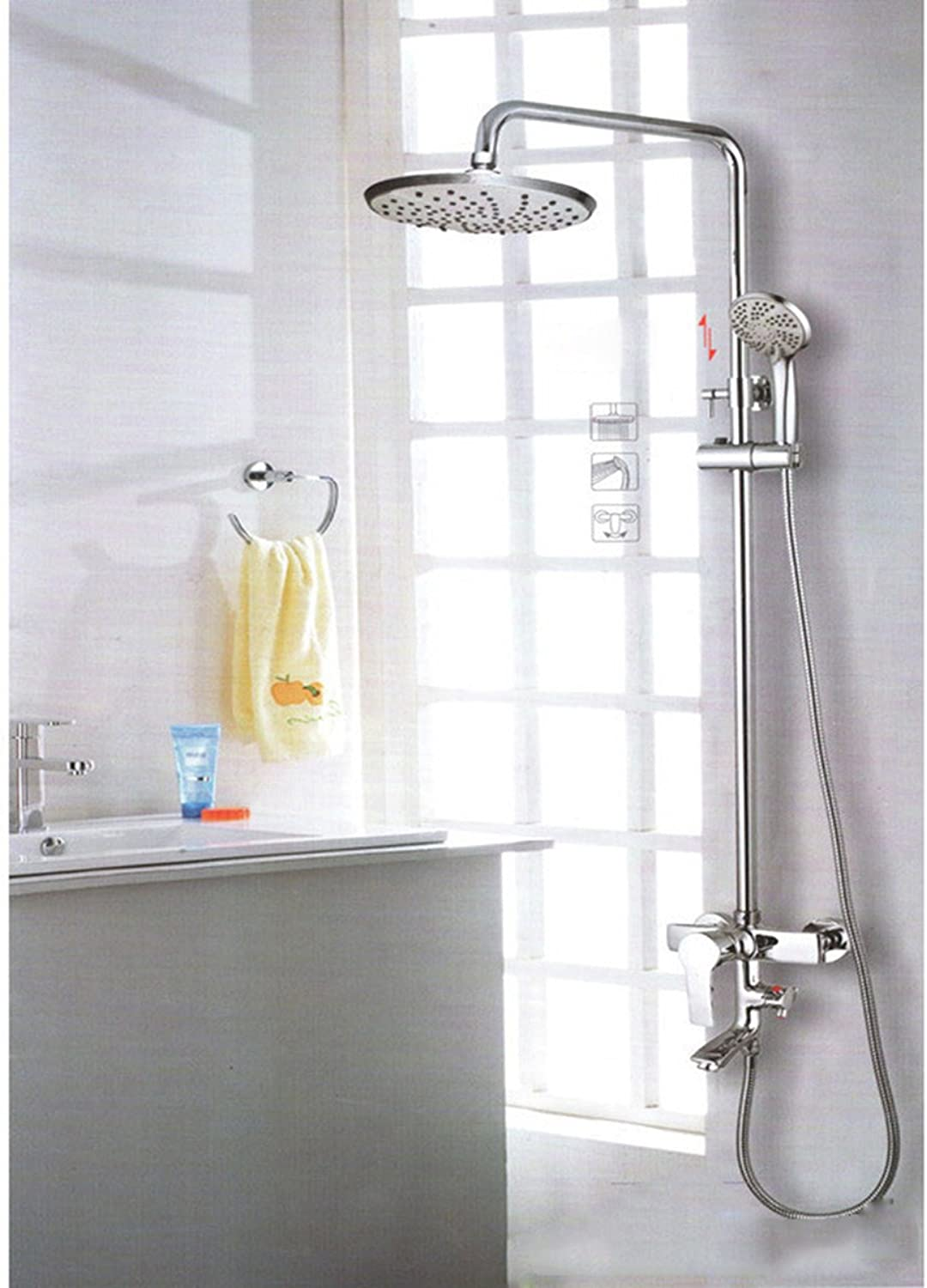 THISME Full Copper Bathroom Shower Suit,A