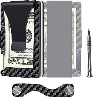 Carbon Fiber Aluminum Mens Wallet Money Clip Wallets for Men RFID Blocking Minimalist Wallet, Slim Wallet, Carbon Fiber Kit P (Carbon Fiber Kit P) - WT01