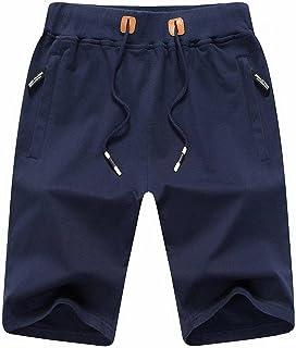 Mens Shorts Casual Classic Fit Drawstring Summer Beach...