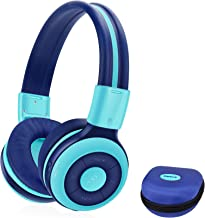 SIMOLIO Foldable Bluetooth Headphones with 75dB,85dB,94dB Volume Limit for Kids Teens and Adults, Built-in Mic and Share P...