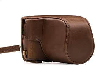 MegaGear Canon EOS M100 (15-45mm) Ever Ready Leather Camera Case and Strap, with Battery Access - Dark Brown - MG1326