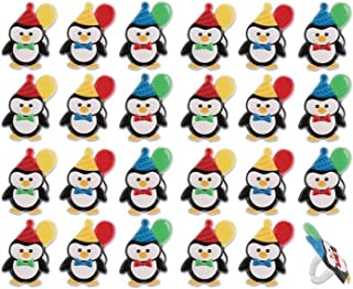Penguin Birthday Party Cupcake Rings (24-Pack)