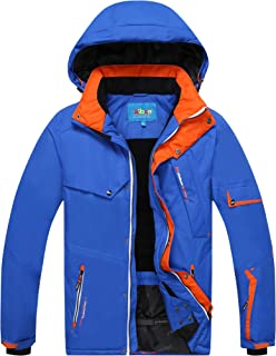 Avenmax Men's Ski Jacket Waterproof Windproof Rain Snow Jacket Hooded Ski Coat