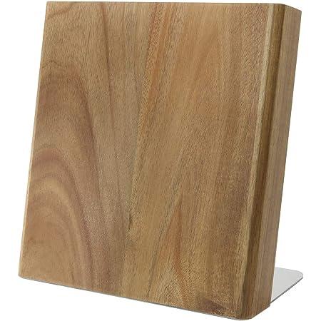 Coninx Bloc de Couteaux magnétiques Vide/Lot de Couteaux Quin/Range Couteaux Bloc à Couteaux/Bloc Couteaux/Ensemble de Couteaux 23 x 20 x 12 cm (Acacia XL)