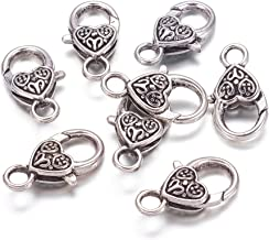 silver charms with lobster clasp