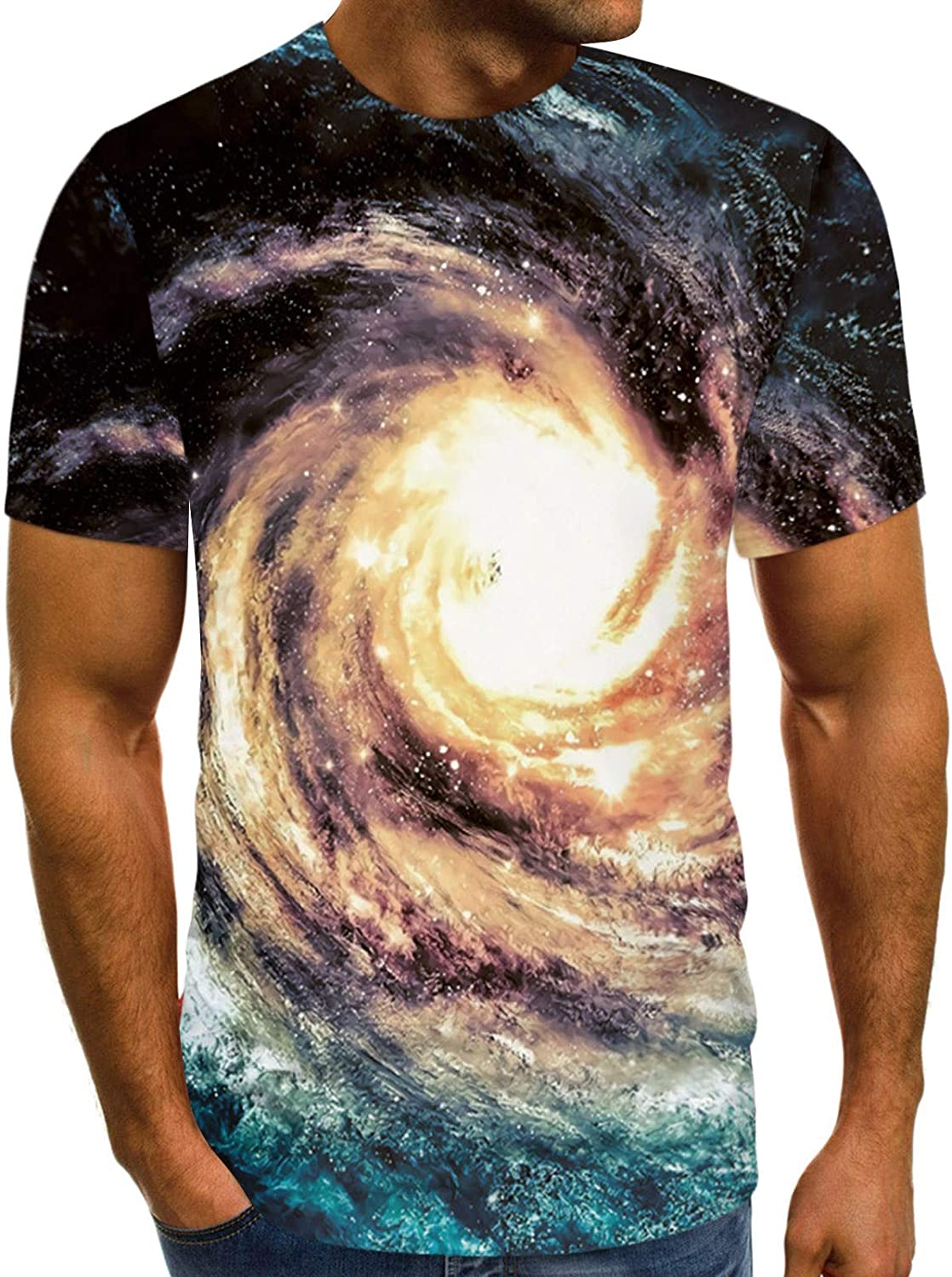 3D Graphic Men Women Outlet sale Price reduction feature Short T-Shirt Ro Sleeve Lightweight Printed
