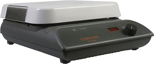 """کورنینگ 6795-600D PC-600D پلیت داغ، نمایشگر دیجیتال، 10 """"x 10"""" پیکرکرم بالا، 26.1 x 9.5 میلیمتر (L x W x H)، 5 تا 550 درجه سانتیگراد، 120 ولت / 60 هرتز"""