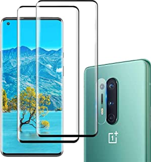 For OnePlus 8 Pro Screen Protector [2 Pack] and Oneplus 8 Pro Camera Lens Protector [1 Pack],HD Clear Tempered Glass Scree...