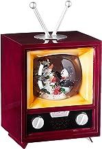 Holiday Christmas Decorative Snow Globe TV Home Décor Snowman Christmas Tree