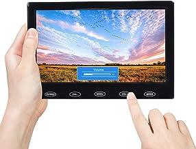 Pantalla 7 Pulgadas TFT LCD TOGUARD Pantalla UltraFina Portable Monitor Full HD 1024x600, Entrada AV/VGA/HDMI, con Botones Táctiles, Altavoz Integrado, Compatible con Cámara de Seguridad