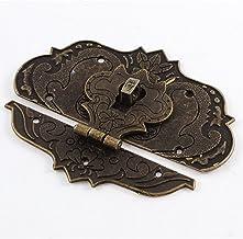 sourcingmap® 97mmx73mm Koffer Sieraden Doos Hasp Klink Lock Antieke Bronzen Tone