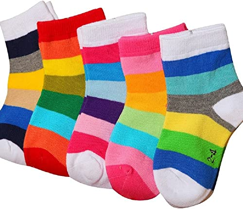 FOOTPRINTS Baby Boy's Organic Cotton Socks (Multicolour, 12 -18 Months) -Pack of 5 Pairs