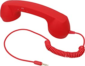 AMC Retro Vintage 3.5 mm Cell Phone Handset Receiver for iPhone Red