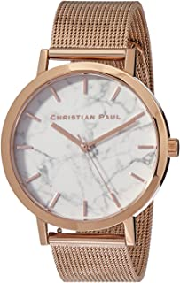 Christian Paul Women MWR4319 Year-Round Analog Quartz Rose Gold Watch