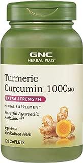 GNC Herbal Plus Turmeric Curcumin 1000mg Extra Strength, 120 Caplets, Provides Antioxidant Support