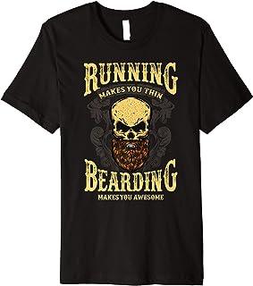 Beard Boyfriend Grandpa Pop Bearded Skull Fathers Day Gift Premium T-Shirt