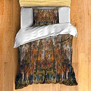 Duvet Cover Fashionable illustration modern artwork my original oil painting on Twin Size 2 Pcs Bedding Set Modern Style P...