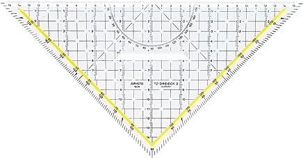 transparente /équerre-TZ hypot/énuse: 250 mm avec poign/ée enlevable ARISTO 70-AR1650//4