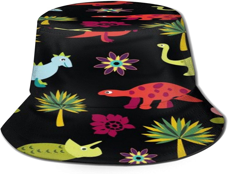 Tree Cartoon Dinosaurs Atlanta Mall Bucket Hat Unisex Packable Summer Sun Nippon regular agency