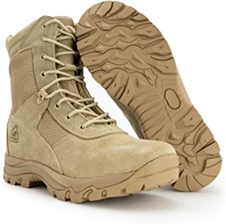 RYNO GEAR Tactical Combat Boots with Coolmax Lining (Beige)