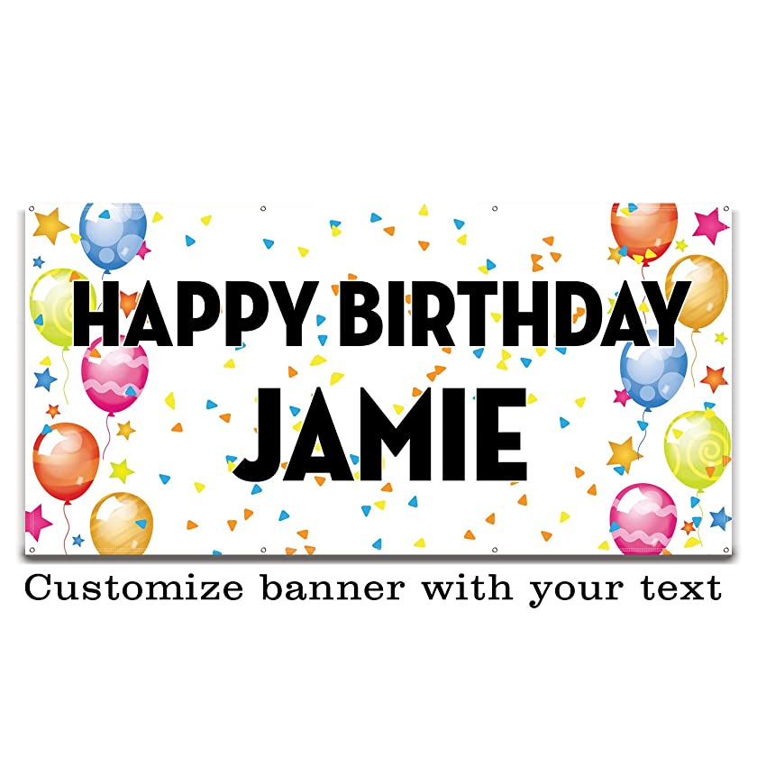 Buttonsmith Celebration Custom Vinyl Banner 3'x6' - Indoor/Outdoor - Personalize with Your Text - Designed, Printed, and Assembled in USA
