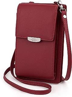 UTO Women Small Crossbody Bag Simple Roomy Zipper Pocket Cell Phone Wallet Card Holder Shoulder Purse