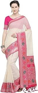 Varkala Silk Sarees Women's Soft Cotton Blend Woven Design Banarasi Saree (Free size)