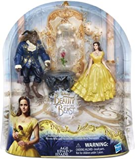 NEW! Disney Beauty and the Beast - ENCHANTED ROSE SCENE PLAYSET - Belle Doll and Beast Figure Inspired by Live-Action Movie Beauty and the Beast