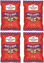 Popcorn Indiana Black and White Drizzle Corn Popcorn, 6 Ounce (4 PACK)