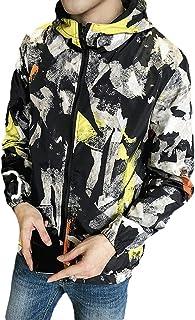 Men's Jacket Casual Loose Breathable Raincoat Lightweight Multi Pocket Outdoor Sports Top Zipper Windbreaker Printed Cotton Pilot Duplex Jacket