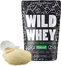 Grass-Fed Whey Protein, Low Carb Keto Friendly Cold Processed Non-Denatured, Biologically Active, GMO-Free Protein Concent...