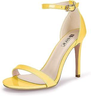 IDIFU Women's IN4 Slim-HI Open Toe Stiletto High Heel Ankle Strap Dress Sandals Party Shoes