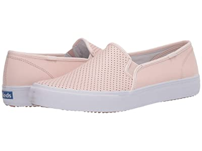 Keds Double Decker Perf Leather (Blush) Women