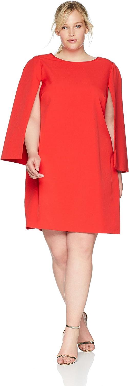 Eliza J Womens Cape Sleeve Shift Dress Dress
