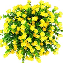 E-HAND Artificial Outdoor Flowers Plants UV Resistant Fake Greenery for Window Box Cemetery Home Patio Yard Indoor Garden Office Wedding Decor Wholesale