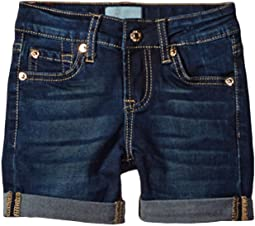 "7 For All Mankind Kids 4"" Roll Cuff Shorts B (Air) in Tried and True (Little Kids)"