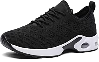 CASMAG Women's Air Jogging Sneakers Outdoor Sport Breathable Running Shoe Black 7 M US