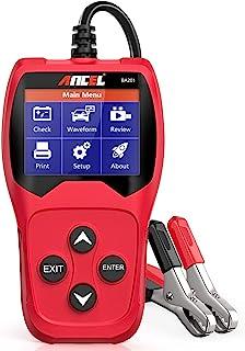 ANCEL BA201 Auto 12V 100 2000 CCA Batterieladetester Kfz Anlasser Kurbelgenerator Ladesystem Digitalanalysator Auto Bad Cell Test Tool   Rot