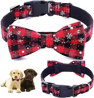 Dog Collar | Dog Bow Ties | Dog Collar | Pet Gift | Christmas Pet Collar | Dog Bowtie Christmas | Red Colour |Collar Length 13.5