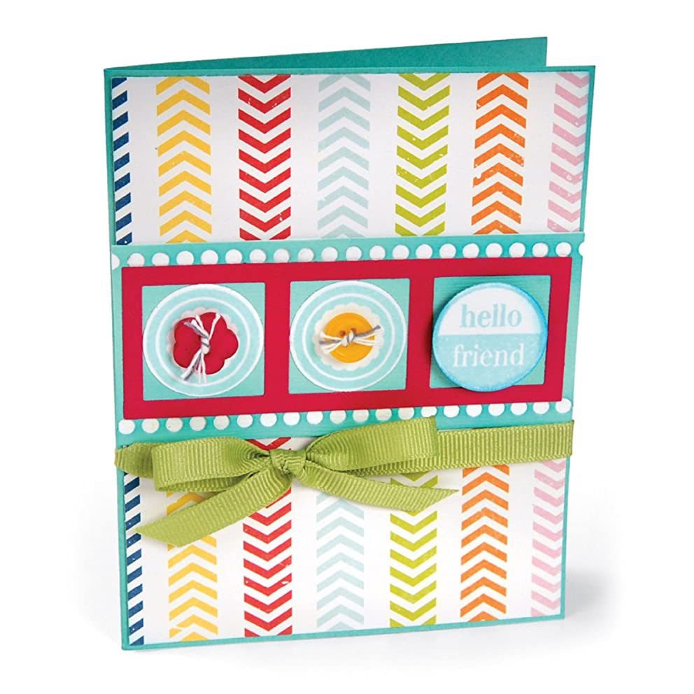 Sizzix Friendly Phrases Framelits Dies with Stamps by Stephanie Barnard, 2-Pack