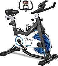 LABGREY Exercise Bike Indoor Cycling Bike Stationary Cycle Bike with Heart Rate Sensor & Comfortable Seat Cushion, Quiet F...