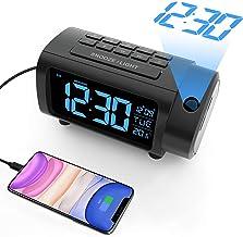 LIORQUE Projektionswecker Digital Wecker mit Projektion Auto-Aus Einstellung, Temperatur,..