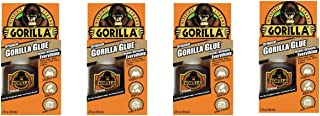 Gorilla 5000206 Original Glue, 2 oz, Brown, (Pack of 4), 4 - Pack, Piece