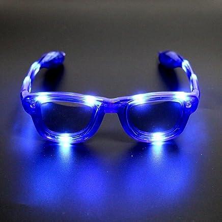 941b11f596 Atcket LED Parpadea Gafas de Sol en 4 Diferentes Colores Unisex F ¨ ¹ r  Adultos
