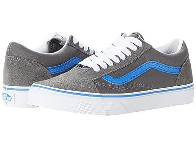 Vans Kids Old Skool (Big Kid) ((Pop) Gargoyle/Nebulas Blue) Boys Shoes