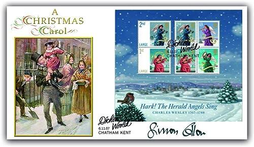 Buckingham Bezüge 2007 ckens 'A Christmas Carol' Buckingham First Day Cover. Mit der Genuine Signature von Simon Callow