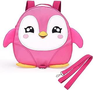 EPLAZA Toddler Walking Safety Penguin Belt Backpack with Leash Child Kid Harness Strap Bag (Rose red Penguin)