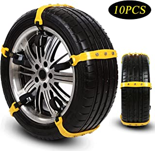 Snow Chains Tire Chains for SUV Cars Trucks Vehicle Universal Security Chain Anti-Skid Chains for Ice Snow Mud Sand Univer...