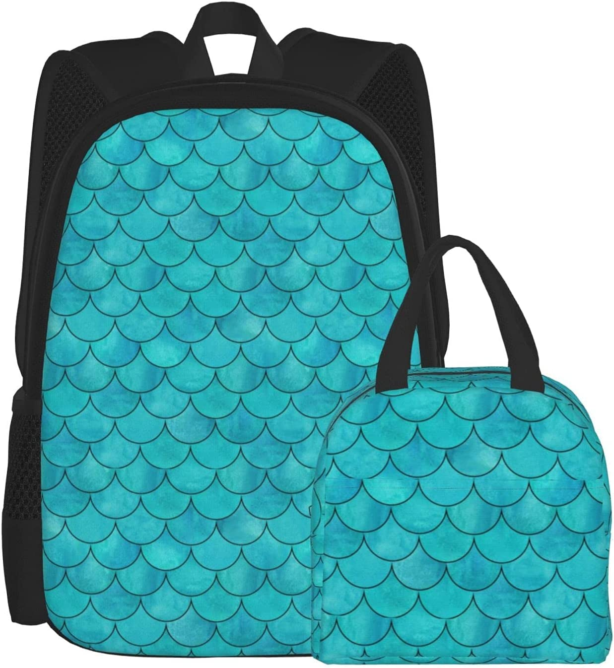 Mermaid Fresno Mall Squama Same day shipping Work Daily Backpack Casual Lunch Daypacks Ba Tote