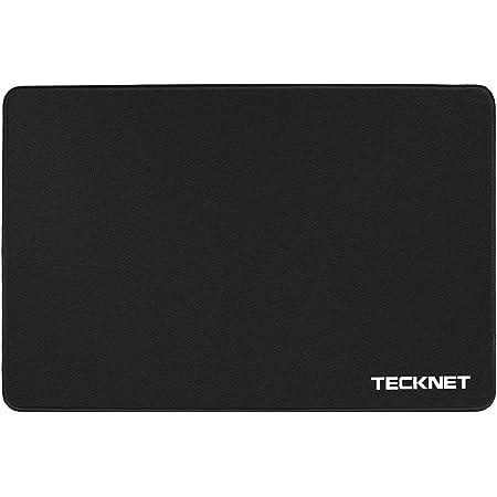 TECKNET Alfombrilla de Ratón Gaming, 320x240x3mm, Base de Goma Antideslizante, Superfície con Textura Especial, Compatible con Láser y Óptico